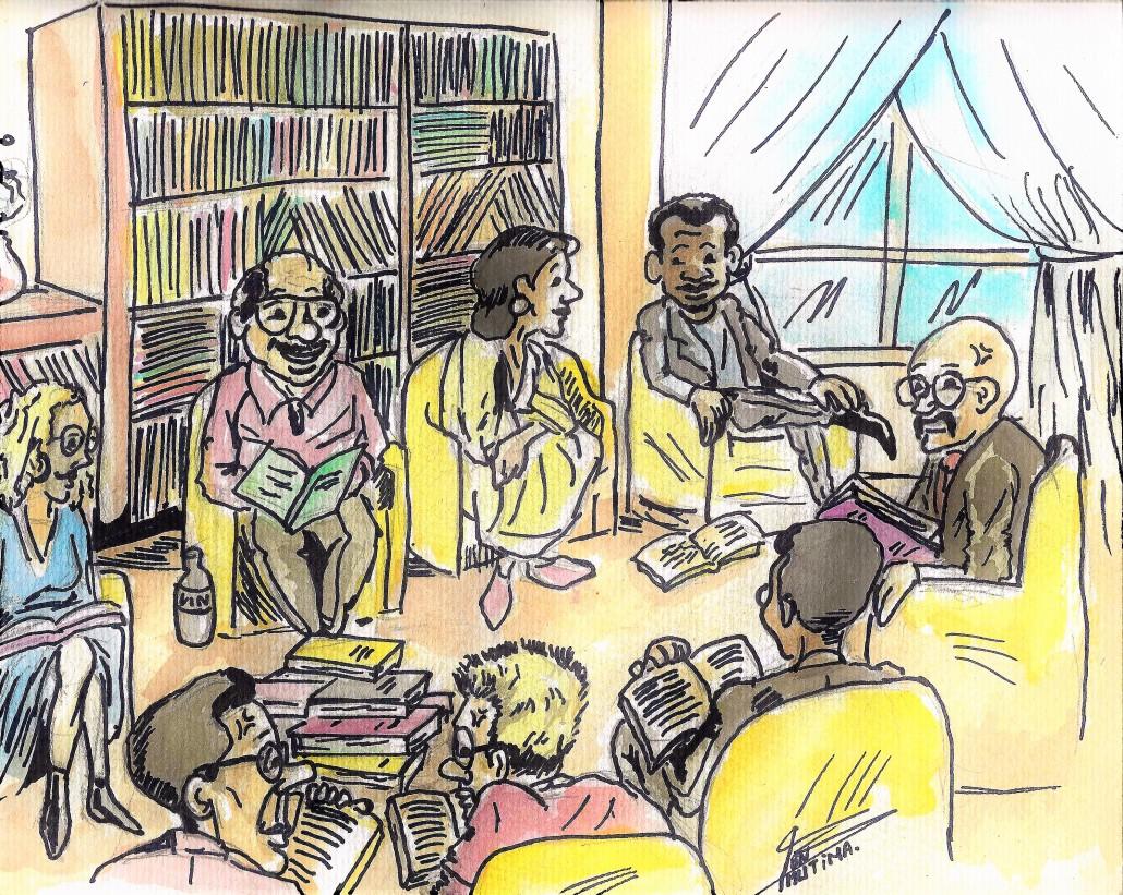 Dessin - Qu'est-ce qu'un salon du livre?