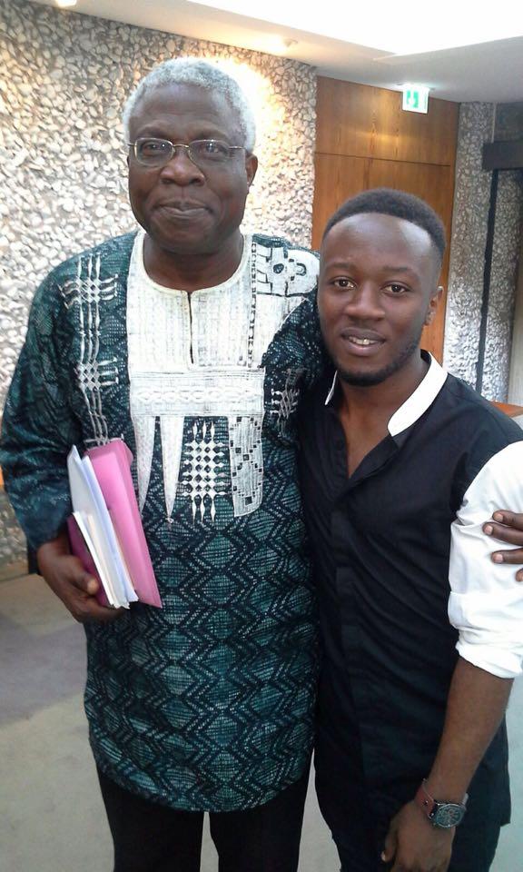 Steve Mekoudja et Niyi Osundare