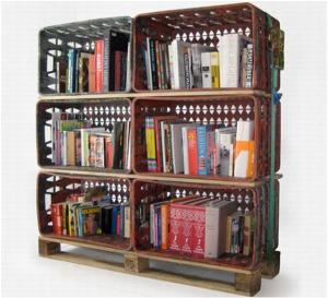 Assemblage de casiers pour bibliothèque -Afrolivresque