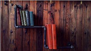 Bibliothèque en tuyaux d'acier- Afrolivresque