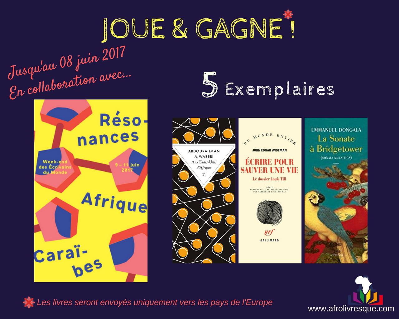 Afrolivresque Jeu - Résonances Afrique_Caraibes Juin 2017