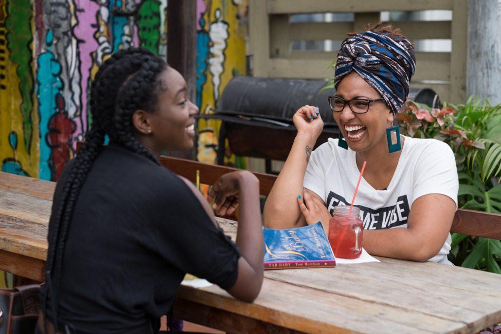 Afrolitt_S1 Ep1_Pamela Ohene-Nyako, Poetra Asantewa_Photo by Nii Odzenma