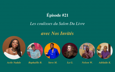 Épisode #21 - Dans les coulisses du podcast Le Salon du livre - Visuel page du podcast